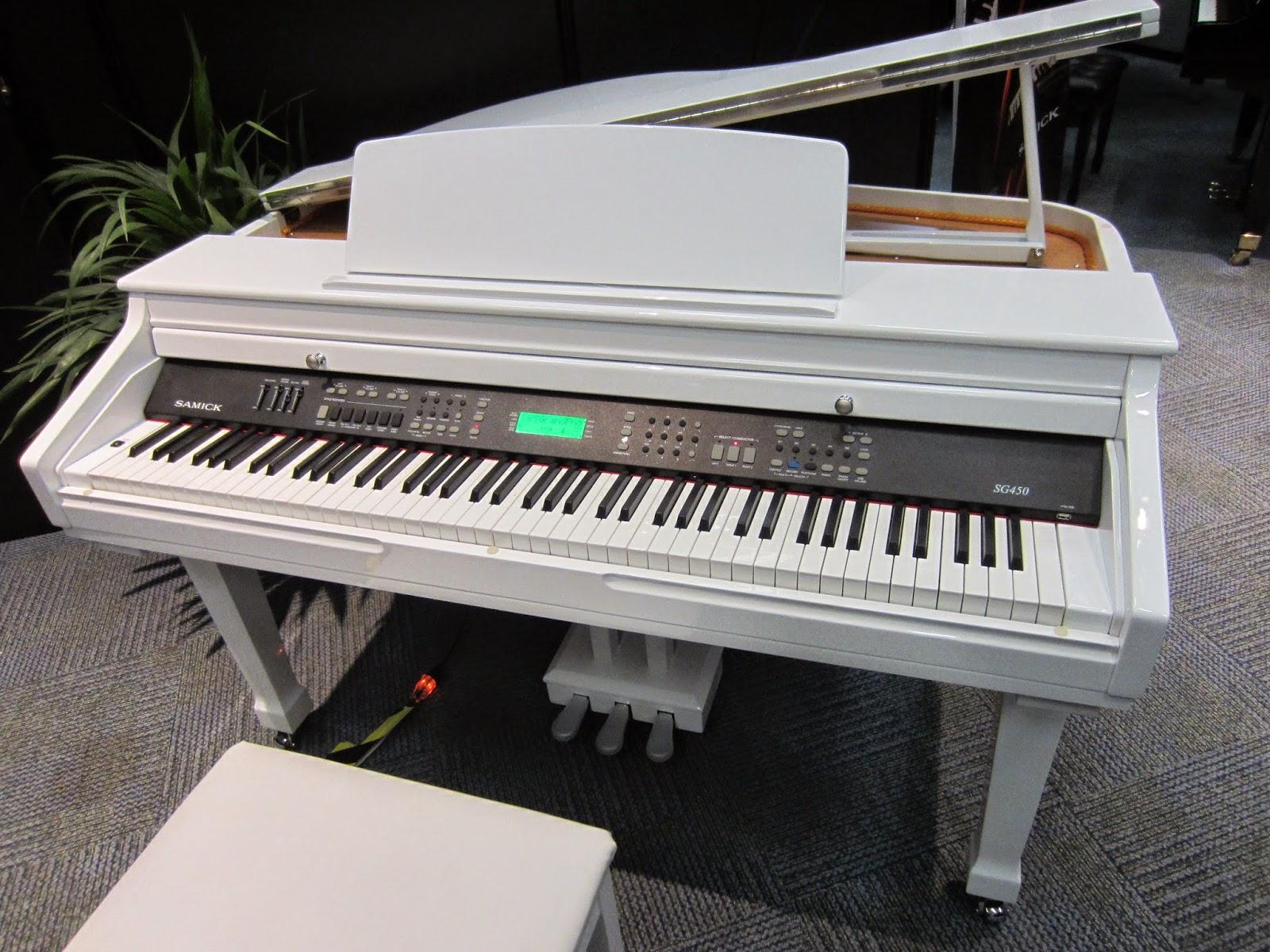White Baby Grand Yamaha